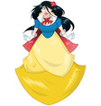 Princess Snow White In Blue Yellow Dress vector image