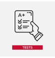 Tests - single icon vector image