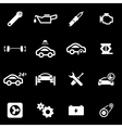white car service icon set vector image