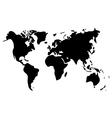world map on white background black vector image