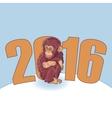 Year of the Monkey Beautiful hand drawn monkey vector image