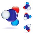 atom three vector image vector image