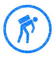 courier person rounded grainy icon vector image