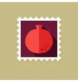 Garnet flat stamp with long shadow vector image