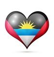 Antigua and Barbuda Heart flag icon vector image