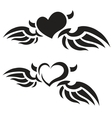 Heart tattoos vector image