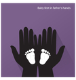 Baby feet in mother s hands vector image