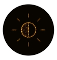 Brightness icon silhouette of gold lights vector image