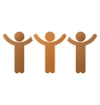 Child Hands Up Roundelay Gradient Icon vector image
