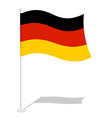 Germany flag Official national symbol of German vector image