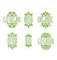 Go Vegan label vector image