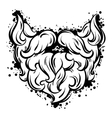 Hipster mustache and beard in line art style vector image