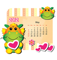may animal calendar vector image
