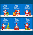 merry christmas and happy new year set of posters vector image