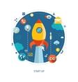 Modern flat design business infographics vector image