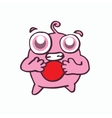 Monster with ball cartoon design vector image