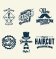 Vintage Barber Shop vector image