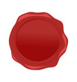 wax seal red isolated on white background vector image