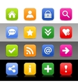 Web icon set with basic sign vector image