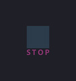 Stop button computer symbol vector image