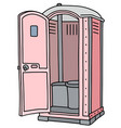 pink mobile toilet vector image