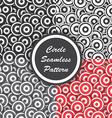 Circle seamless pattern Abstract background vector image