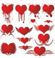heart gothic blood vector image