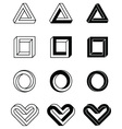 imposible shapes vector image