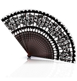 black and red fan vector image vector image