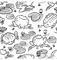 pattern with rogs vector image