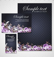 card with roses on a black background vector image