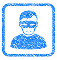 anonymous person framed stamp vector image