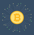 bitcoin and circuit vector image