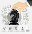 Business strategy infographics option vector image
