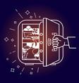 concept of a diet srefrigerator evenings vector image