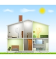 Cut in house interiors vector image