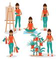 Girlish hobby vector image