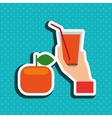 healthy drink design vector image