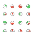 Sensor and detector icon set vector image