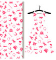 women dress fabric with princess pattern vector image