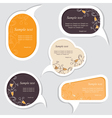 Speech bubbles set vector image