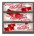 Holiday flyers happy Valentine s Day vector image