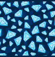 diamonds of different size seamless pattern vector image