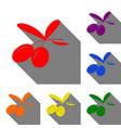 olives sign  set of red orange vector image