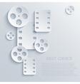 film icon background Eps10 vector image