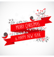 Christmas greeting card with decorative elements vector image vector image