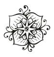Amazing black flower in tattoo style vector image