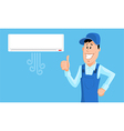 Service Man with Air conditioner vector image vector image