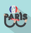 Stand With Paris Typography Design vector image