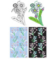 flower and plant background vector image